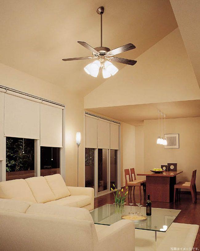 DP-35203G + DP-37979 + DP-35322 + DP-35207 傾斜対応 LED 電球色 4灯 DAIKO(ダイコー)製シーリングファンライト