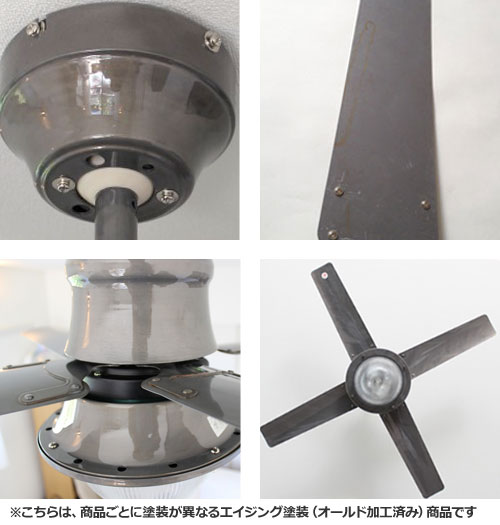 CF42-003SV,VENICE(ヴェニス42インチ) 傾斜対応 電球色 2灯 軽量 HERMOSA(ハモサ)製シーリングファンライト