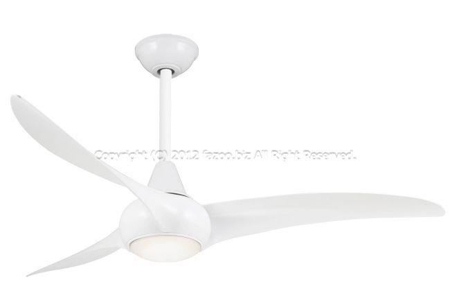 F844-WH + DR512-WH,LightWave ホワイト  大風量 傾斜対応 LED 調光 電球色 1灯 軽量 MinkaAire(ミンカエアー)製シーリングファンライト