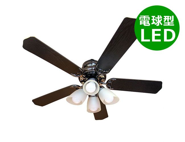 ND-CFL-RC4 + LD2602 / ND2602 / ND-CFL-PC(L) LED 電球色/昼白色/昼光色 4灯 薄型 軽量 NIHON DENKO(日本電興)製シーリングファンライト