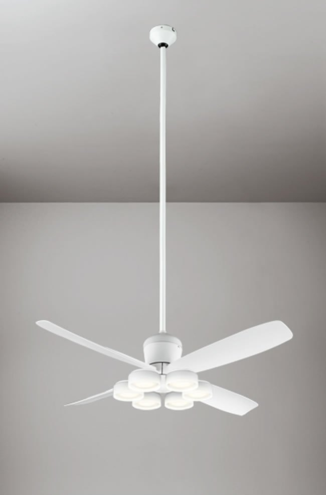 WF813 + WF823LD / WF823ND + WF734 大風量 傾斜対応 LED 電球色/昼白色 6灯 ODELIC(オーデリック)製シーリングファンライト