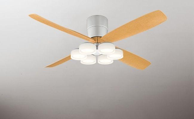 WF061(060#+911#) + WF066LD / WF066ND 大風量 LED 電球色/昼白色 6灯 薄型 軽量 ODELIC(オーデリック)製シーリングファンライト