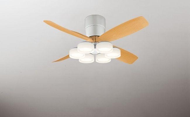 WF071(070#+921#) + WF066LD / WF066ND 大風量 LED 電球色/昼白色 6灯 薄型 軽量 ODELIC(オーデリック)製シーリングファンライト