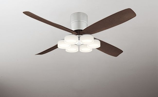 WF060(060#+910#) + WF066LD / WF066ND 大風量 LED 電球色/昼白色 6灯 薄型 軽量 ODELIC(オーデリック)製シーリングファンライト