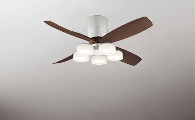 WF070(070#+920#) + WF065LD / WF065ND 大風量 LED 電球色/昼白色 5灯 薄型 軽量 ODELIC(オーデリック)製シーリングファンライト