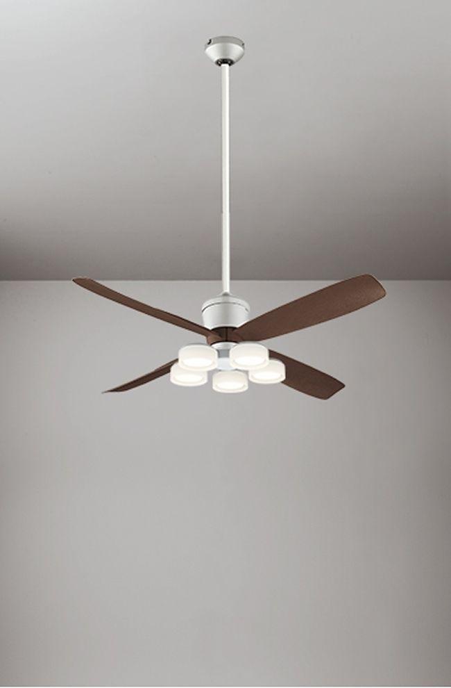 WF080(080#+910#) + WF065LD / WF065ND + WF613 大風量 傾斜対応 LED 電球色/昼白色 5灯 ODELIC(オーデリック)製シーリングファンライト