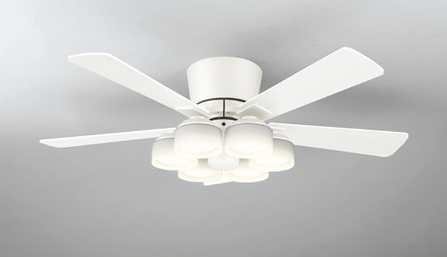 WF208LC / WF208NC LED 調光 電球色/昼白色 6灯 薄型 ODELIC(オーデリック)製シーリングファンライト