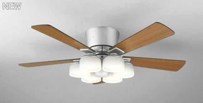 WF209LC / WF209NC LED 調光 電球色/昼白色 6灯 薄型 ODELIC(オーデリック)製シーリングファンライト