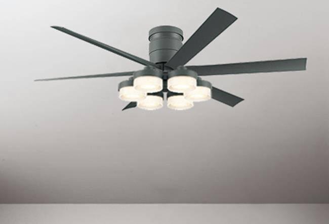 WF247 + WF269LC / WF269NC 大風量 LED 調光 電球色/昼白色 6灯 薄型 ODELIC(オーデリック)製シーリングファンライト
