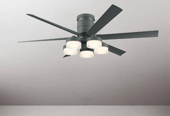 WF247 + WF270LC / WF270NC 大風量 LED 調光 電球色/昼白色 5灯 薄型 ODELIC(オーデリック)製シーリングファンライト