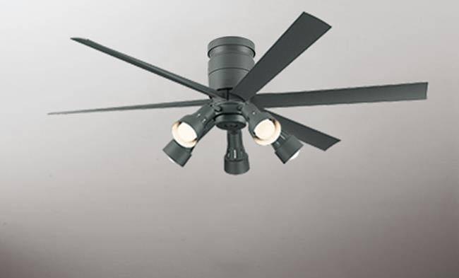 WF247 + WF280LC / WF280NC 大風量 LED 調光 電球色/昼白色 5灯 軽量 ODELIC(オーデリック)製シーリングファンライト