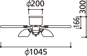 WF446PR,高演色LED [R15]  LED 調光・光色切替(電球色-昼白色) 5灯 薄型 ODELIC(オーデリック)製シーリングファンライト