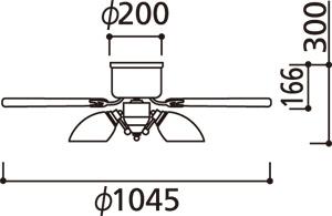 WF547PR,高演色LED [R15]  LED 調光・光色切替(電球色-昼白色) 5灯 薄型 ODELIC(オーデリック)製シーリングファンライト