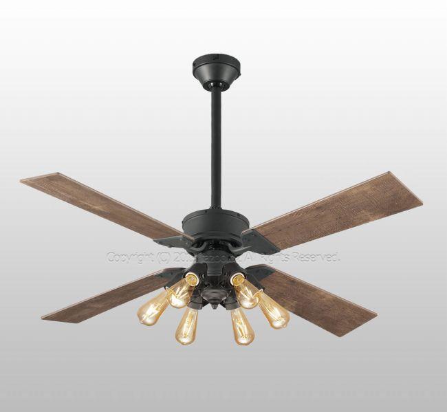 WF831 + WF834LC + WF837 大風量 傾斜対応 LED 調光 電球色 6灯 ODELIC(オーデリック)製シーリングファンライト