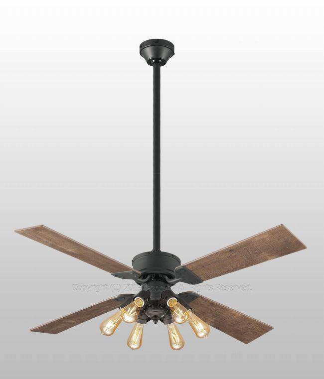 WF831 + WF834LC + WF838 大風量 傾斜対応 LED 調光 電球色 6灯 ODELIC(オーデリック)製シーリングファンライト