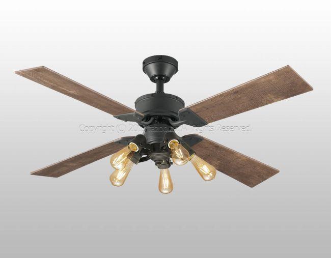 WF831 + WF835LC 大風量 傾斜対応 LED 調光 電球色 5灯 軽量 ODELIC(オーデリック)製シーリングファンライト