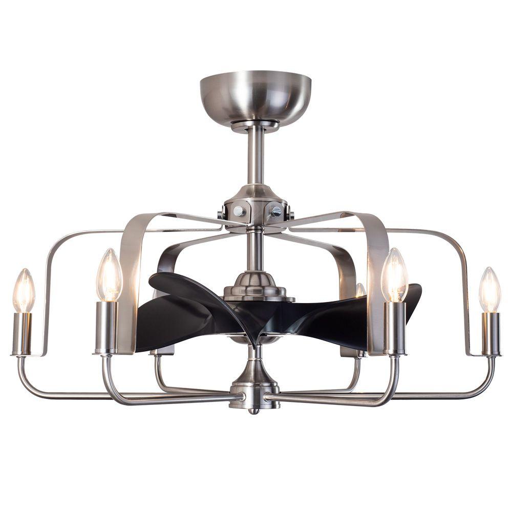 AS-5272-6,ファンデリア  大風量 LED 電球色 6灯 小型 ORRB(オーブ)製シーリングファンライト