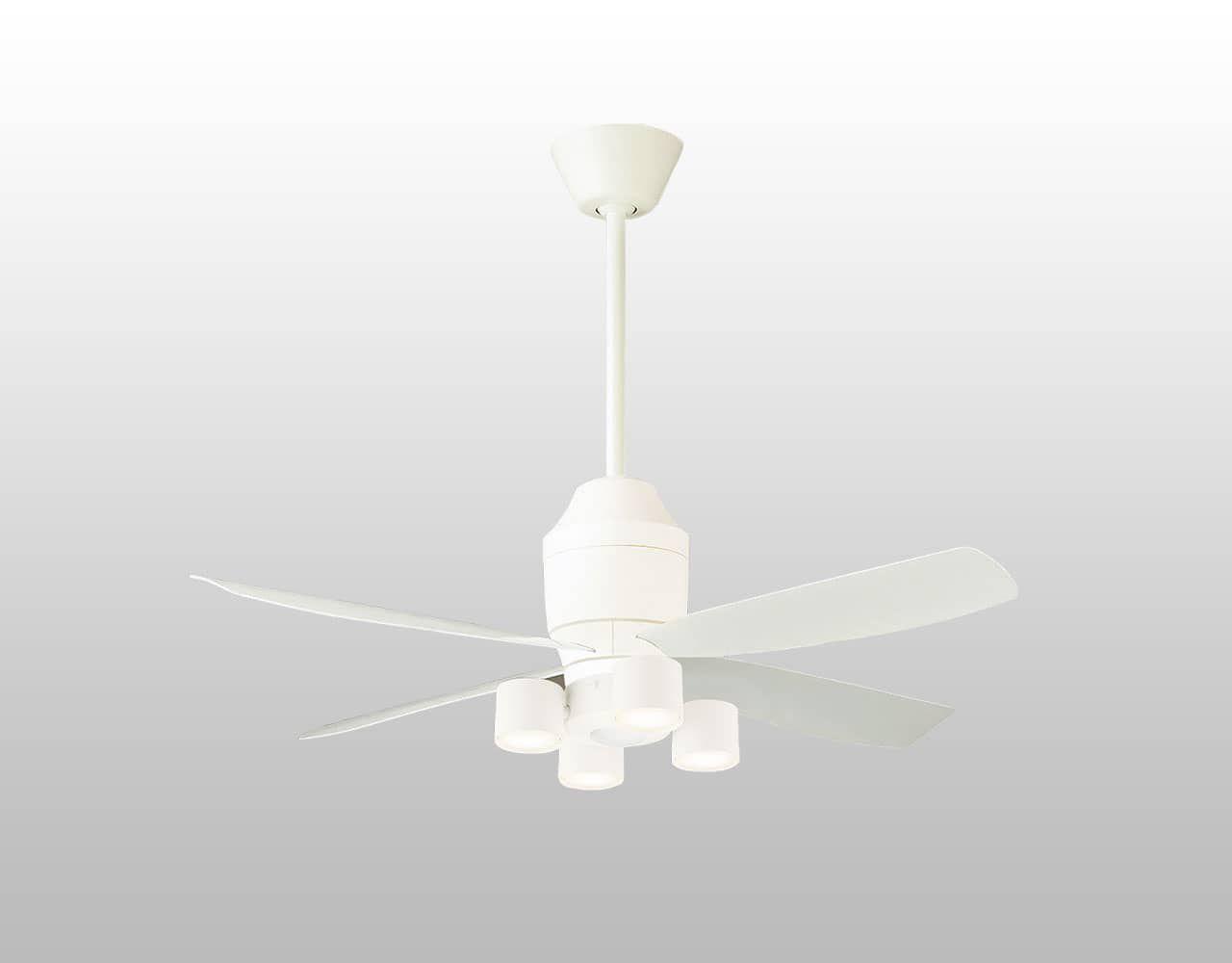 SP7070 + SPL5427(集光) + SPK031K + SPK071 + LLD3020MLCE1 / LLD3020MVCE1 / LLD3020MNCE1,クラス700[集光タイプ]Ra90[美ルック] 大風量 傾斜対応 LED 電球色/温白色/昼白色 4灯 軽量 Panasonic(パナソニック)製シーリングファンライト