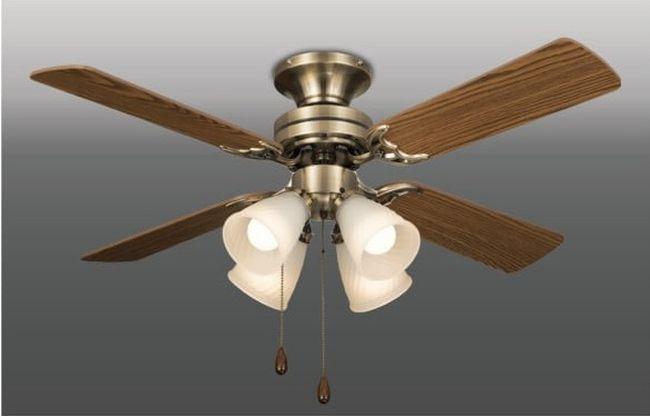 TLFP4009 + LD2602 / ND2602 LED 電球色/昼白色 4灯 軽量 タキズミ(瀧住電機工業)製シーリングファンライト