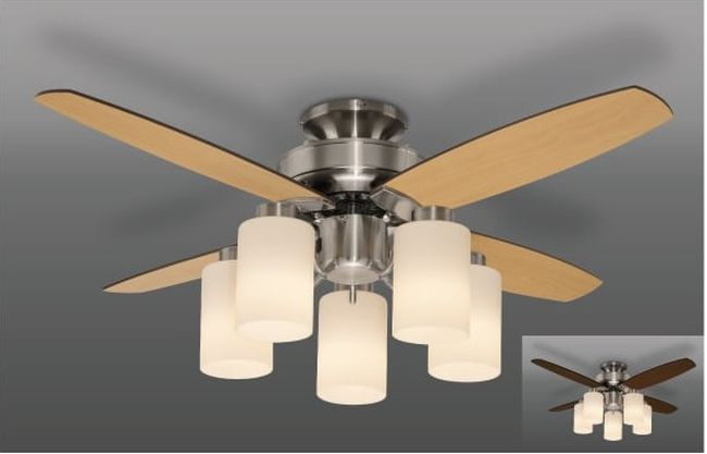 TLFR5010 LED 電球色 5灯 タキズミ(瀧住電機工業)製シーリングファンライト