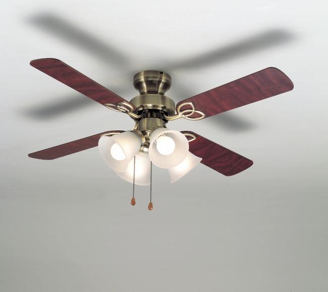 TKM-42AB4LKNDZ + LD2602 / ND2602 大風量 LED 電球色/昼白色 4灯 軽量 TOKYOMETAL(東京メタル工業)製シーリングファンライト