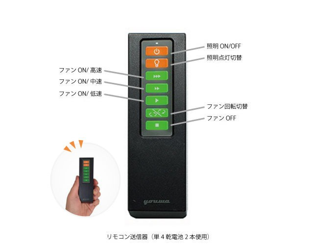 YCF-358BK + LD2602 / ND2602 YOUWA(ユーワ)製シーリングファンライト【生産終了品】