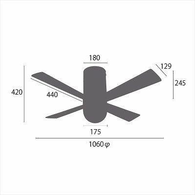 YCF-540 LED 調光 電球色 1灯 YOUWA(ユーワ)製シーリングファンライト