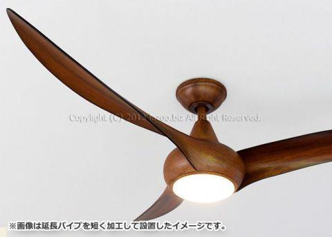 F844-DK,LightWave 木目 ハワイ輸入ファン 大風量 傾斜対応 LED 調光 1灯 軽量 MinkaAire(ミンカエアー)製シーリングファンライト