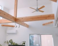茅ヶ崎市 戸建て 傾斜天井 パナソニック製シーリングファン 取付工事