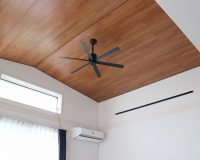 茅ヶ崎市 戸建て 2階リビング 傾斜天井 シーリングファン 取り付け 工事 事例