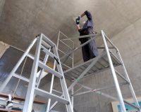 横浜市 コンクリート造戸建て 分岐配線 パナソニック製シーリングファン アンカー取付工事