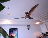 海外 輸入 シーリングファン Minka Aire Light Wave F844-DKのマンション 取り付け工事