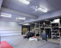 千代田区 パナソニック製シーリングファン 駐車場(オフィス下の作業場)への取り付け工事事例