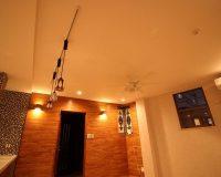 テラスハウスで使われているシーリングファン!! 杉並区 戸建て普通天井 オーデリック製シーリングファン 取付工事