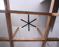 神奈川県藤沢市 戸建て ロフト付き天井 オーデリック製シーリングファン 取付工事