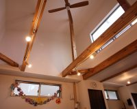 神奈川県葉山町 戸建て オーデリック製シーリングファン 取付工事