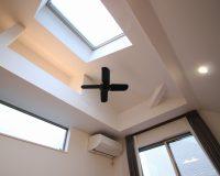 東京都品川区(白金) マンション 傾斜天井 オーデリック製シーリングファン 取付工事