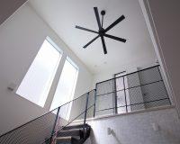 さいたま市緑区 戸建て 階段上吹抜け オーデリック製シーリングファン 取付工事