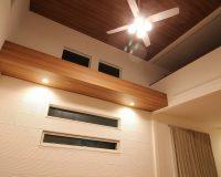 川崎市 戸建て ロフト付き天井 パナソニック製シーリングファン 取付工事