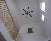 小平市 戸建て 1階リビング吹き抜け オーデリック製シーリングファン 取付工事