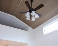 川崎市 戸建て 傾斜天井 オーデリック製シーリングファンライト 取付工事