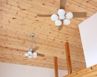 相模原市 戸建て 傾斜天井 オーデリック製シーリングファンライト 取付工事事例
