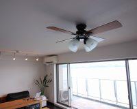 静岡県熱海市 マンション普通天井 ライフオンプロダクツ製ファンライト 2台取付事例