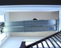 川口市 戸建 1階から2階 吹き抜け シーリングファンライト 取付工事 事例