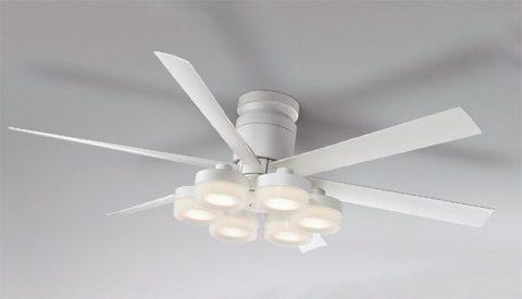 WF237 + WF267PC 大風量 LED 調光調色 6灯 薄型 ODELIC(オーデリック)製シーリングファンライト