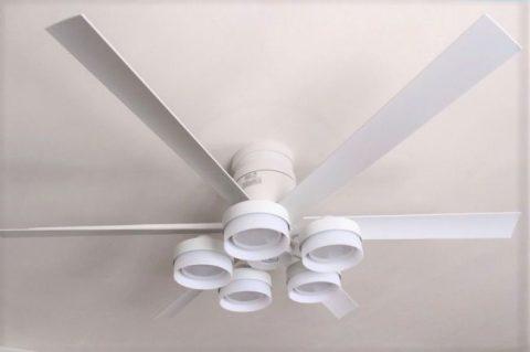 WF237 + WF268PC 大風量 LED 調光調色(電球色-昼白色) 5灯 薄型 ODELIC(オーデリック)製シーリングファンライト