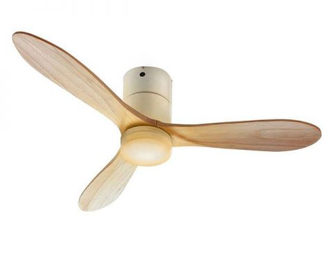 JE-CF017M WH,JAVALO ELF Modern Collection REAL wood blades 大風量 LED 調光 電球色 1灯 薄型 軽量 HANWA(阪和)ハンワ製シーリングファンライト
