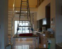 千葉県浦安市 マンション メゾネット 4.8m シーリングファンライト取り付け工事