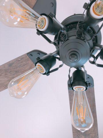 WF833 + WF835LC + WF837 傾斜対応 LED 調光 5灯 軽量 ODELIC(オーデリック)製シーリングファンライト