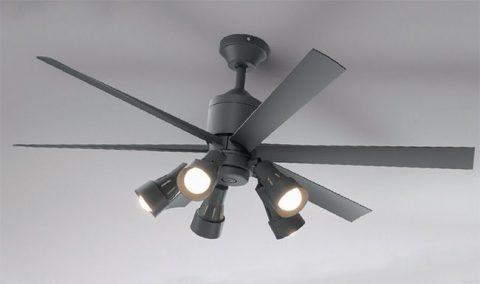 WF249 + WF280LC / WF280NC + WF738 大風量 傾斜対応 LED 調光 5灯 ODELIC(オーデリック)製シーリングファンライト